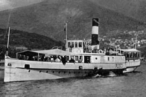 Nostalgic steamboat Plinio on Lake Como
