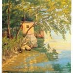 Lakeside Scene, Lake-Como-by Winston Churchill