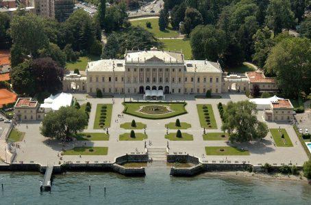 Villa Olmo in Como on Lake Como after reconstruction work