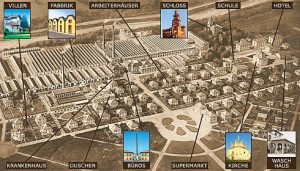 Villaggio Crespi d'Adda Arbeitersiedlung, Ende des 19. Jh - ideale Arbeiterstadt, UNESCO Weltkulturerbe