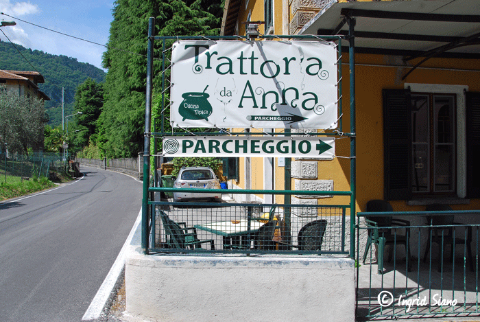 Trattoria Da Anna, Limonta on Lake Como