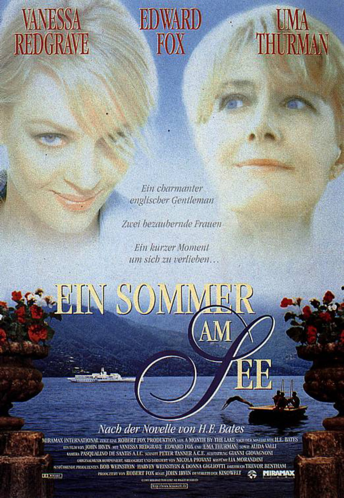 Movie poster: A summer at the lake, playing on Lake Como