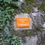 Sign for the Sentiero del Viandante on Lake Como