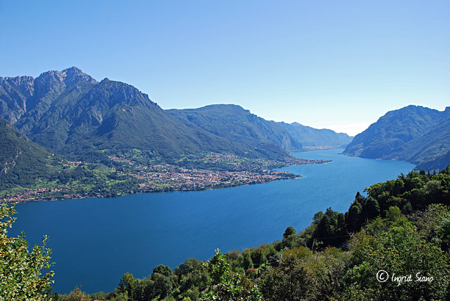 View on Lake Como towards Lecco, east bank