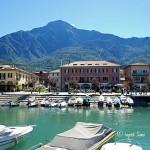 Hafen von Colico am Comer See