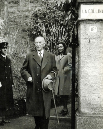 Konrad Adenauer on Lake Como