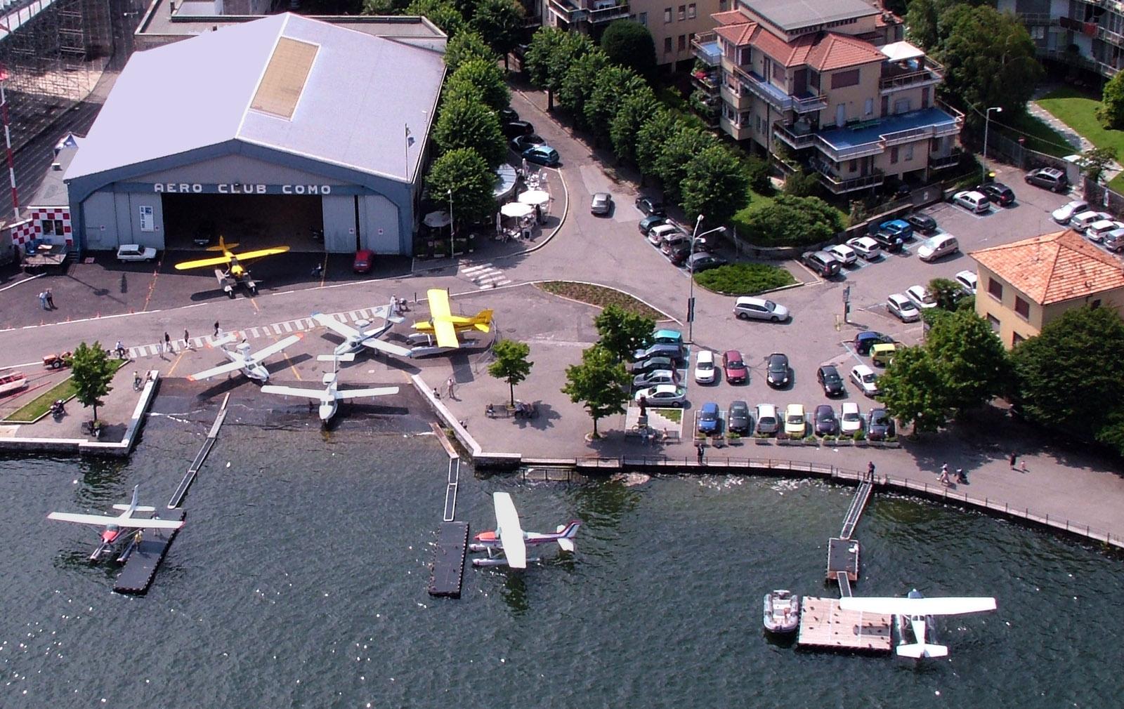 Aero Club Como Hangar on Lake Como