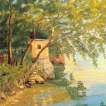 Gemälde Lakeside Sea am Comer See von Winston Churchill