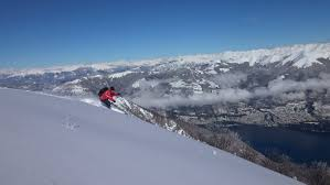 Skiing on Lake Como