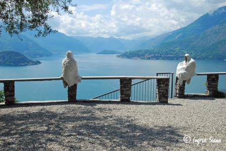 Ghosts look down on Lake Como from Castello di Vezio
