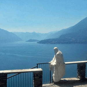 Ghost of Castello di Vezio on Lake Como