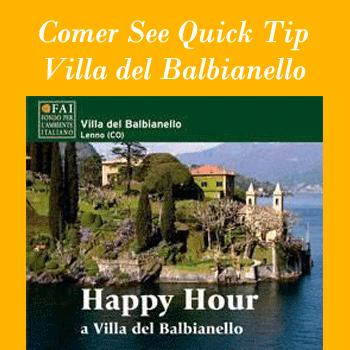 Lake Como Quick Tip: Happy Hour at Villa del Balbianello