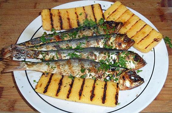 Missoltini mit Polenta, Comer See