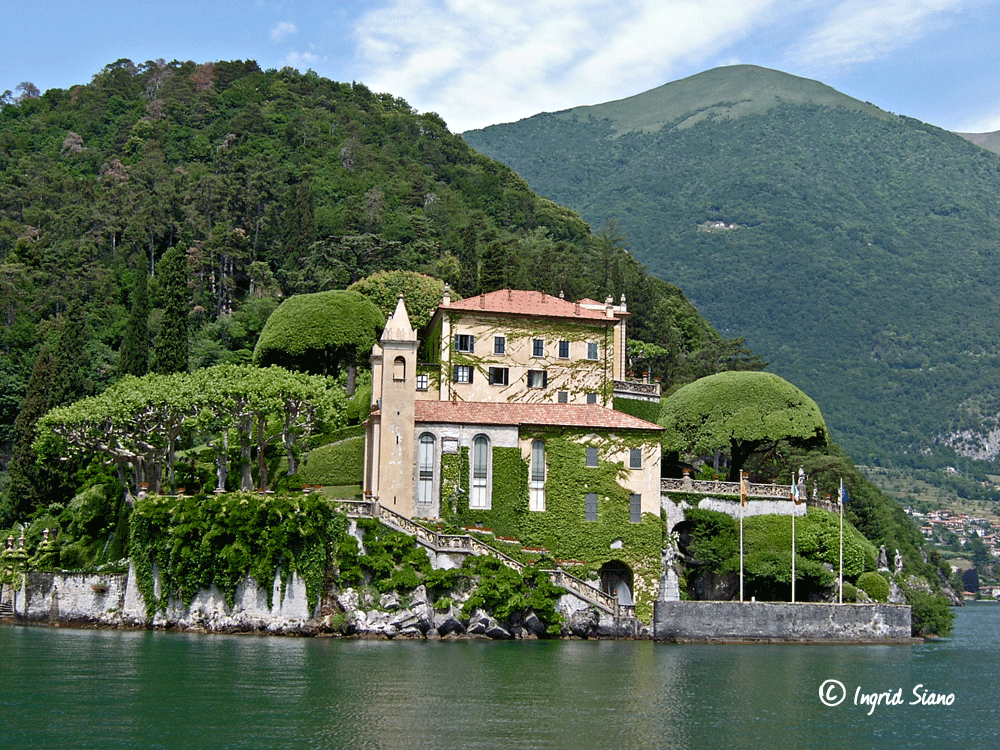 The romantic Villa del Balbianello on Lake Como