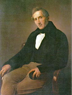 Alessandro Manzoni 1841, Portrait of Francesco Hayez