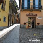 Schöne Gassen von Bellagio am Comer See