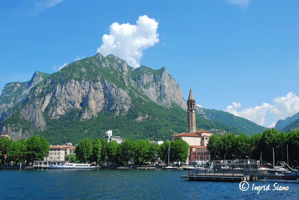 Lecco on Lake Como with Basilica of San Nicolò