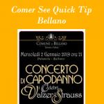 Quick-Tip Neujahrskonzert in Bellano amComer-See