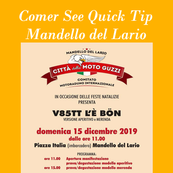 Christmas event Moto Guzzi 2019 in Mandello del Lario on Lake Como
