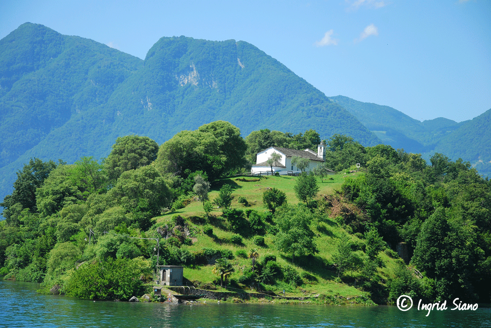 Isola Comacina the only island in Lake Como