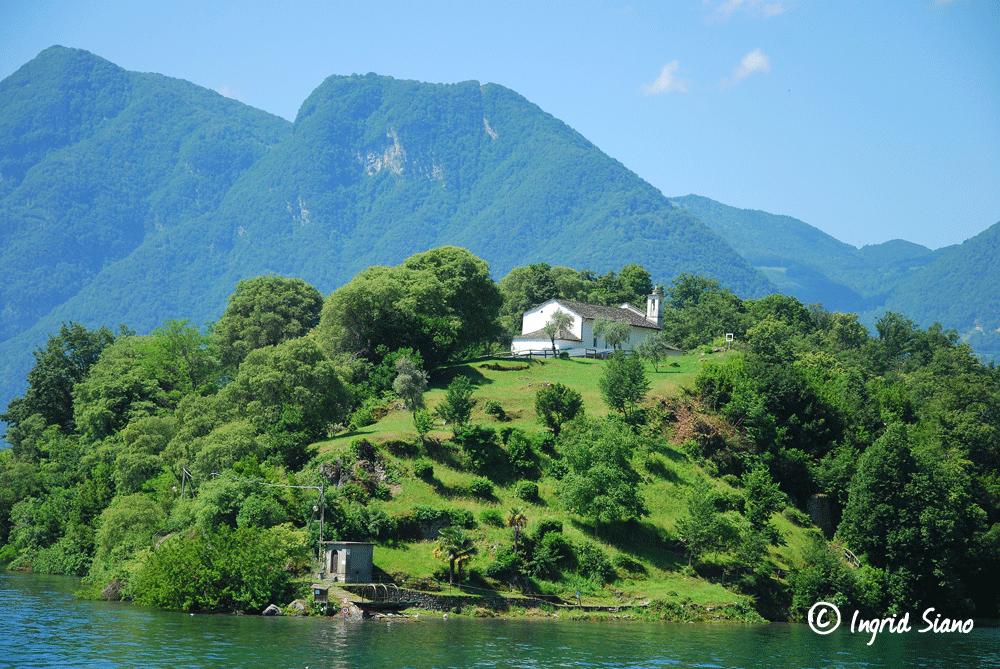 Isola Comacina einzige Insel im Comer See