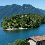 View of Isola Comacina, the only island on Lake Como