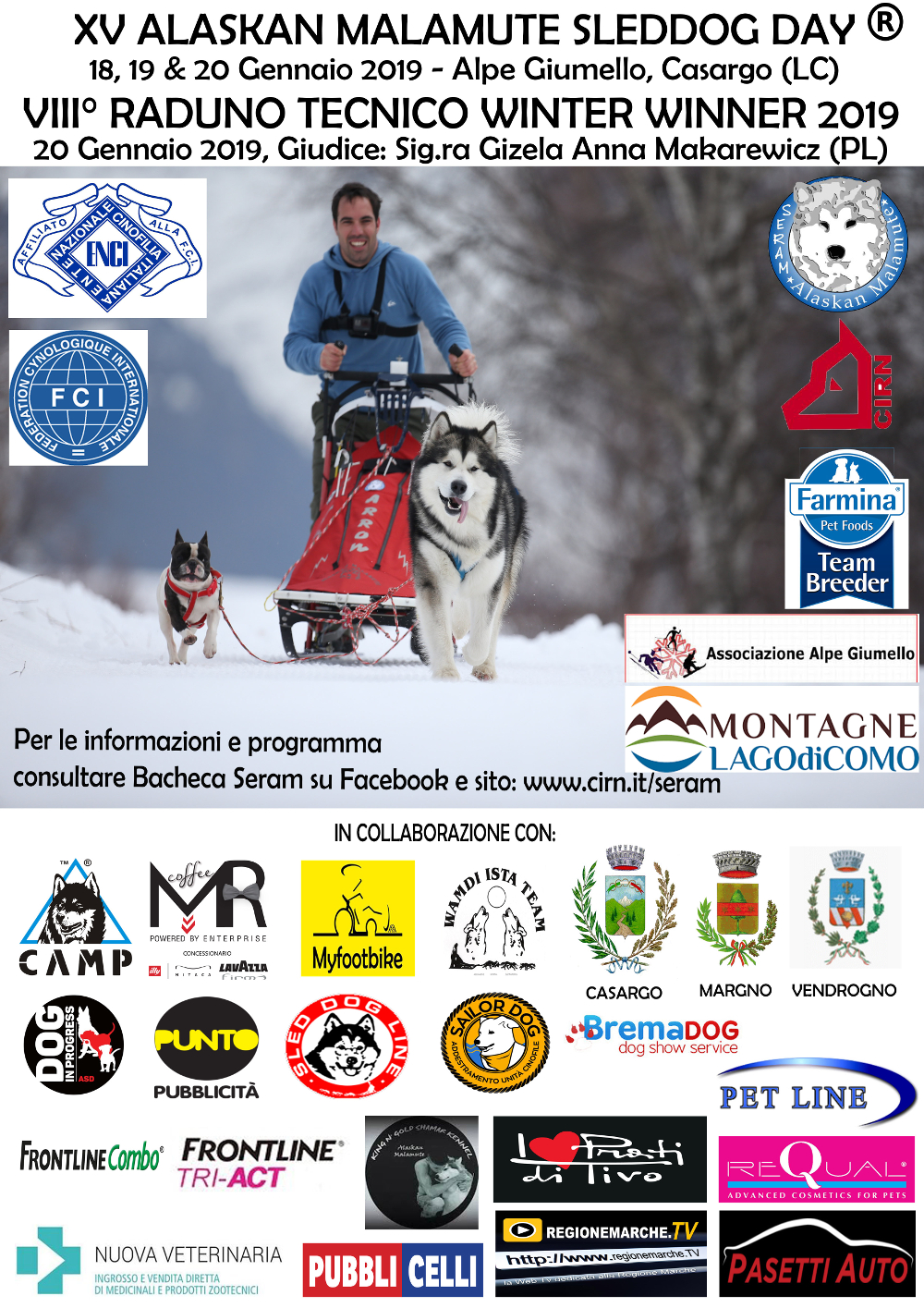 XV.Malamute Sletdog Day_Lake Como 2019