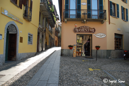 Gasse in Bellagio am Comer See