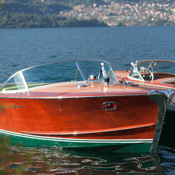 Riva boats from the 60s on Lake Como