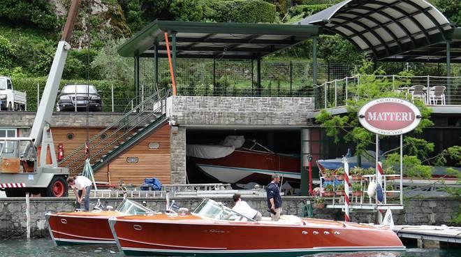 The shipyard of Erio Materi in Lezzeno on Lake Como