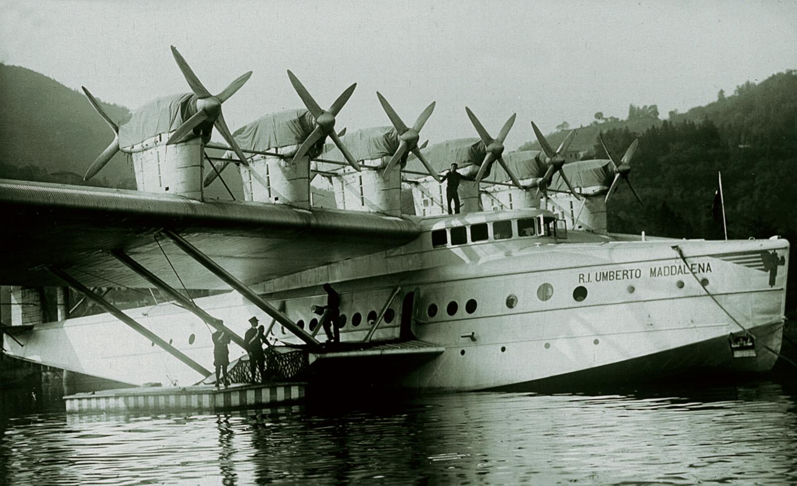 1931- Dornier DO X on Lake Como