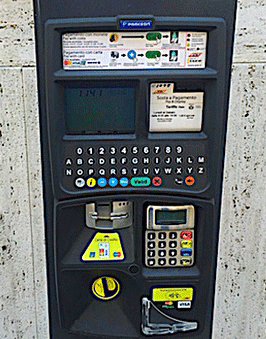 Digitale Parkautomaten am Comer See