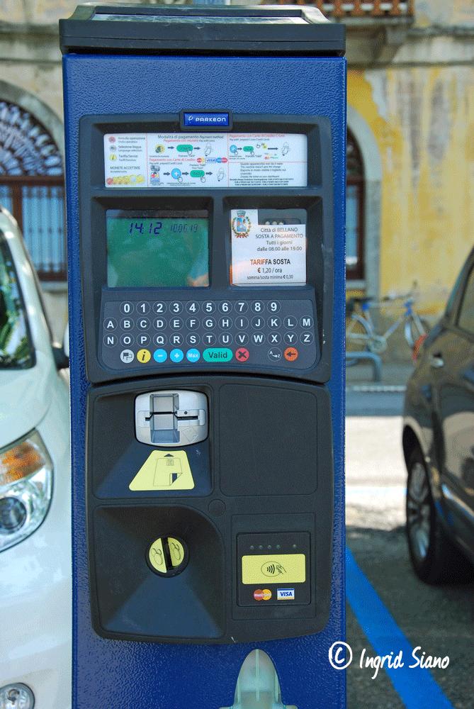 Digitale Parkautomaten in Bellano am Comer See