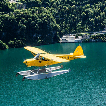 Nostalgic Waterplanes above Lake Como