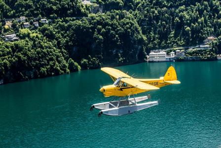 Waterplanes on Lake Como