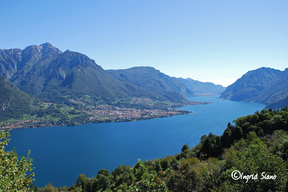 Breathtaking View on beautiful Lake Como towards Lecco, east bank