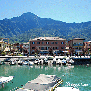 The harbour of Colico on Lake Como