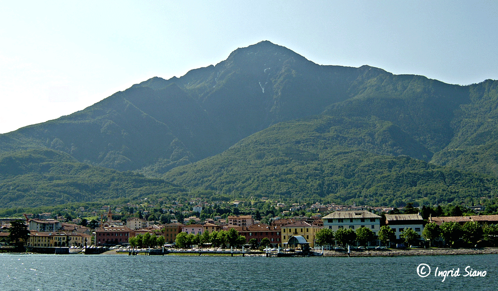 Colico at the foot of Monte Legnone on Lake Como