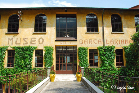 Entrance from the Museo Barca Lariana in Pianello on Lake Como