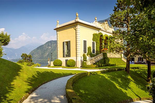 Villa del Balbianello mit Park und Museum am Comer See