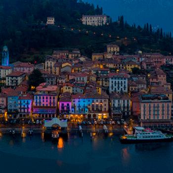 Bellagio Lightson Lake Como, Summer 2021