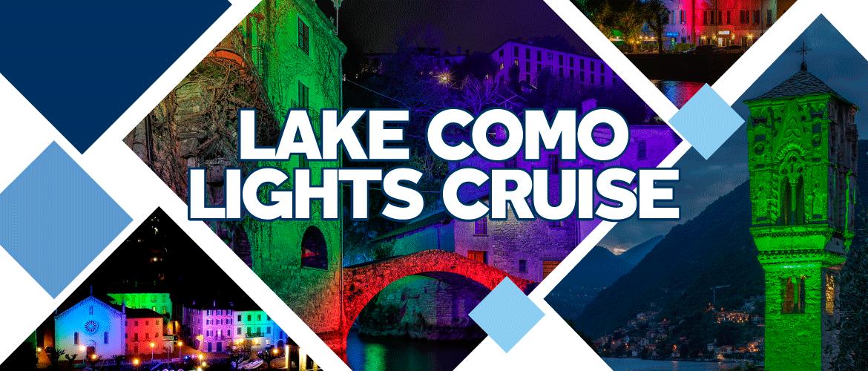 Kreuzfahrt auf dem Comer See zu den beleuchteten Dörfern im Sommer 2021
