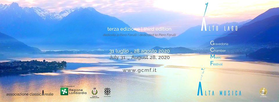 Gravedona Chamber Music Festival 2020 in Gravedona on Lake Como, 31. July until 28. August 2020