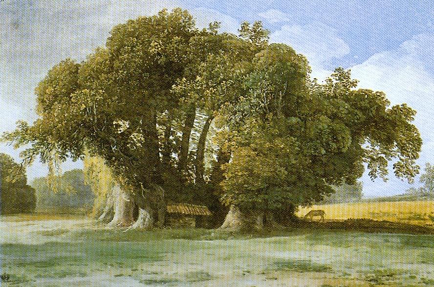 Kastanienbaum der hundert Pferde von Jean-Pierre Houël, ca. 1777