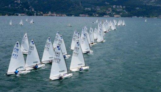 Italienische Segelmeisterschaft Klasse Open Class Europa 2021 in Colico am Comer See